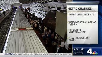 Metro Fares Go Up, Hours and Schedules Change