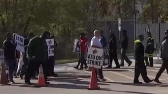 Striking Metrobus Workers in Virginia Bring Fight to DC