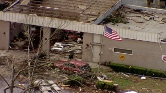 Aerial Footage Shows Damages From Mississippi Tornado