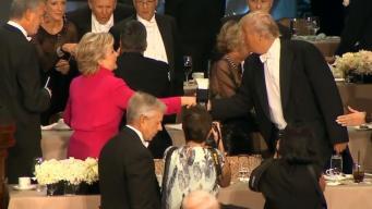 Trump and Clinton Throw Awkward Jabs at Charity Dinner