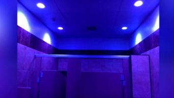 Gas Station Hopes Blue Lights in Bathroom Can Deter Drug Use