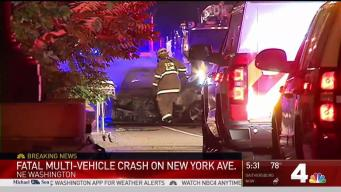 1 Dead, 2 Injured in Fiery Crash in NE DC