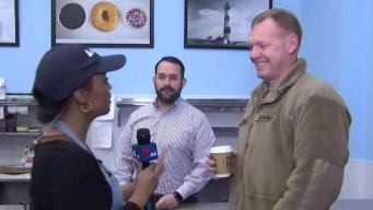 News4 Gives Away Free Doughnuts in Woodbridge
