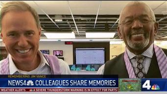News4 Jim Handly Remembers Jim Vance Hugs