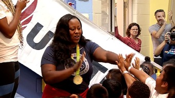 Olympians Visit Local Students