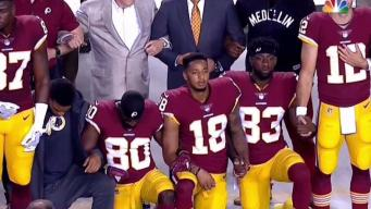 Players Kneel During National Anthem Before Redskins Game