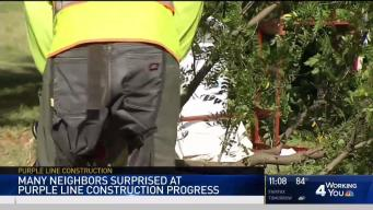 Construction Equipment Vandalized at Purple Line Site