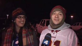 Redskins Fans Battle Cold Weather, Poor Play to See Win