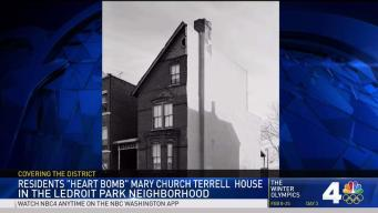 Residents 'Heart Bomb' Mary Church Terrell House