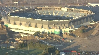 Watch Silverdome Fail to Implode in Demolition Attempt