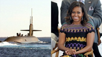 Navy Gets $2.7B Attack Submarine Sponsored by Michelle Obama