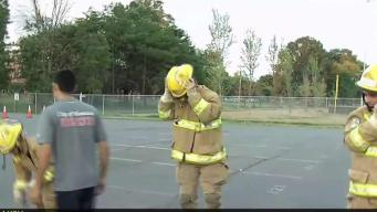Teens Learn Fire-Fighting Skills at Camp