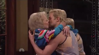 "Betty White Kisses Bradley Cooper on ""SNL"" 40"