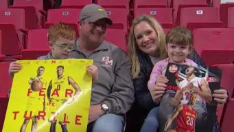 UMD Basketball Hosts Families Fighting Childhood Cancer