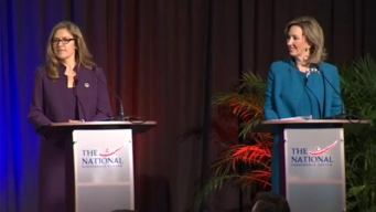 Comstock, Wexton Face Off in Debate in Key House Race