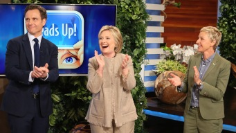 'Ellen': Clinton and Goldwyn Play 'Heads Up!'