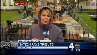A Rainy Day for Solemn Ceremonies in Dallas