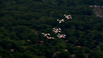 Snowbirds Fly at Dulles