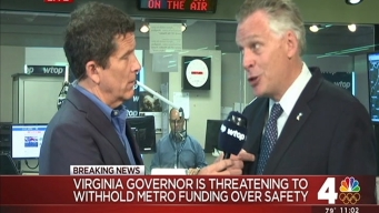 Va. Gov. Threatens to Withhold Funding From WMATA