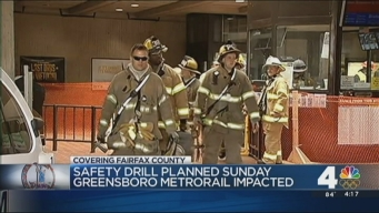 Safety Drill at Greensboro Metro Station Sunday