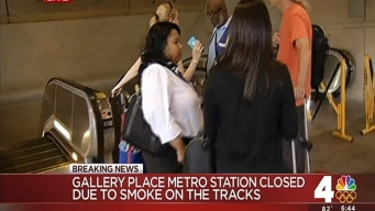 Red Line Station Filled With Smoke During Evening Commute