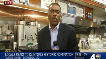 Locals React to Clinton's Historic Nomination