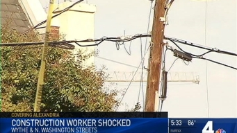Live Electric Wire Lands on Construction Worker in Alexandria