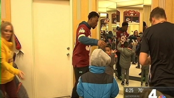 Redskins Help Macy's Share the Warmth for Children in Need