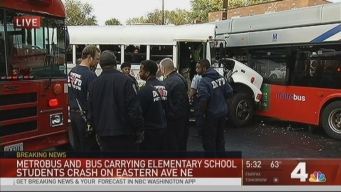 Bus Carrying Students Collides With Metrobus in DC
