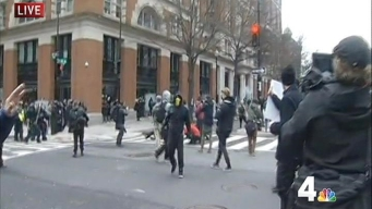 Police, Protesters Clash in Downtown DC