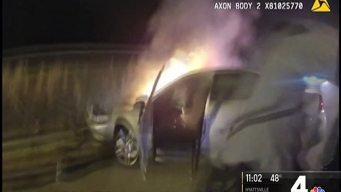 DC Officers Rescue Man from Burning Car