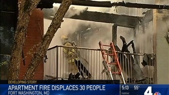 Fire Tears Through Fort Washington Apartment Building