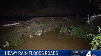 Heavy Rain Causes Flooding Conditions