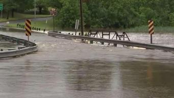 Water Street Submerged by Flooding in Upper Marlboro