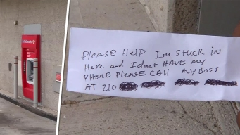 Man Trapped in ATM Slips Notes to Customers Begging For Help
