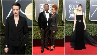 Black Dresses Dominate Golden Globes Red Carpet