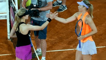 Bouchard Eliminates Sharapova at Madrid Open
