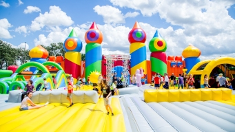 'World's Biggest Bounce House' Arrives Friday