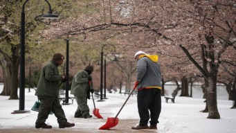 Park Service Goes From Turning on Fountains to Clearing Snow