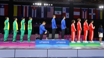 Americans Protest on Medals Stand at Pan Am Games