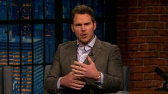 'Late Night': Chris Pratt Rides a Horse Like a Jet Ski