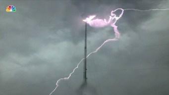 Lightning Strikes TV Station in Georgia
