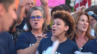 Rosie O'Donnell, Broadway Performers Protest Outside White House