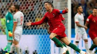 World Cup: Ronaldo Scores Hat Trick as Portugal Draws Spain