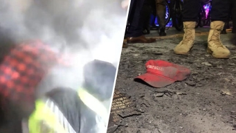Anti-Trump Protesters Set Off Smoke Devices, Light Fires