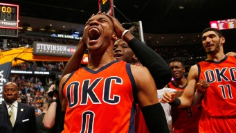 Westbrook Sets Triple-Double Record as Thunder Beat Nuggets