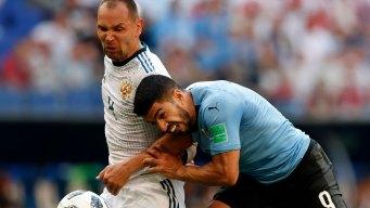 Suarez Scores Again, Uruguay Beats Host Russia 3-0
