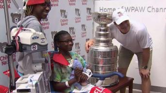 Carlson Takes Stanley Cup to Children's National