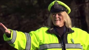 'Good Morning': Crossing Guard's Smile Brightens School Day