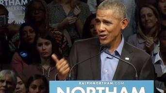 Obama Campaigns for Northam in Virginia